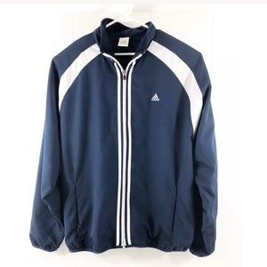 Adidas Jacket Windbreaker Mesh Lining Navy